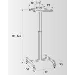 Проекционный столик Projecta Solo 8000 для проекторов (11200038)
