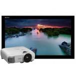 Комплект для домашнего кинотеатра: проектор Epson EH-TW5650 + проекционный экран Lumien Cinema Home 141x238 MW