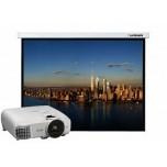 Презентационный комплект: проектор Epson EH-TW5650 + проекционный экран Lumien Master Picture 154x240 MW FiberGlass